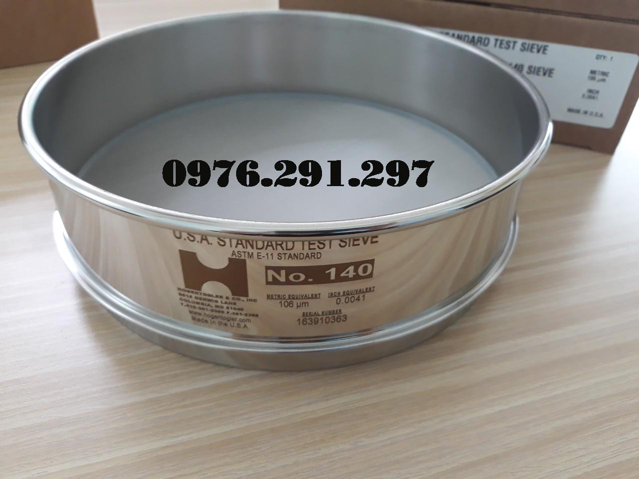 Sàng rây độ mịn của bột lỗ 0.106mm Hogentogler Mỹ