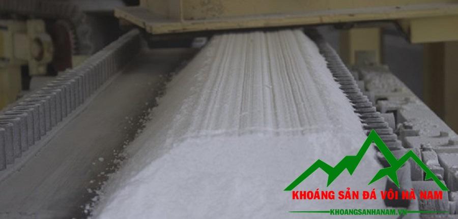 Bột đá CaCO3 nguyên liệu sản xuất bột trét tường