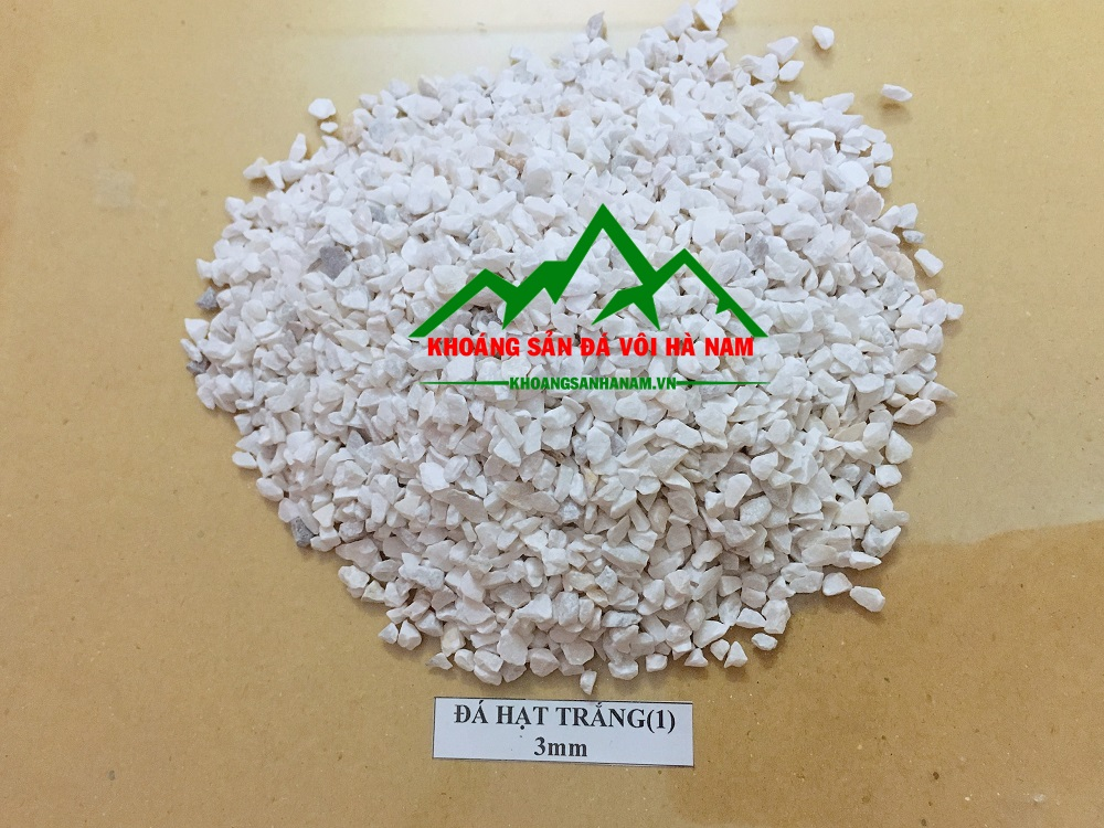 Đá hạt trắng 2mm, 3mm, 4mm, 5mm, 7mm sản xuất gạch terrazzo và mài granito