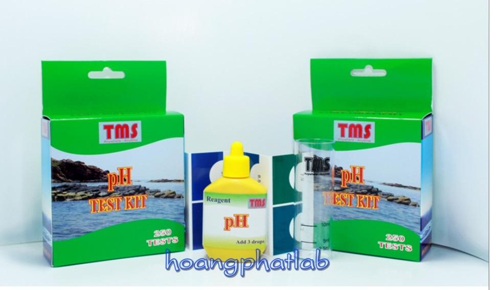 Bộ test kit nhanh cho thủy sản (pH - DO - Fe - Cl- NH4/NH3 -KIỀM -Ca/Mg - NO2-NO3-H2S-PO4 -ĐỘ CỨNG) TMS