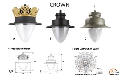 Đèn led sân vườn Crown