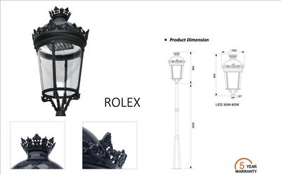 Đèn Led sân vườn Rolex