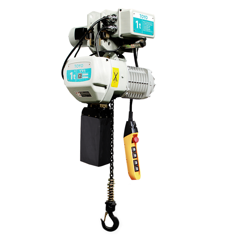TOYO TY1 electric chain hoist with electric trolley