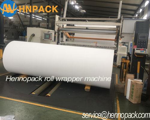 Máy quấn màng pallet tự động tích hợp phủ màng trên cuộn giấy vệ sinh