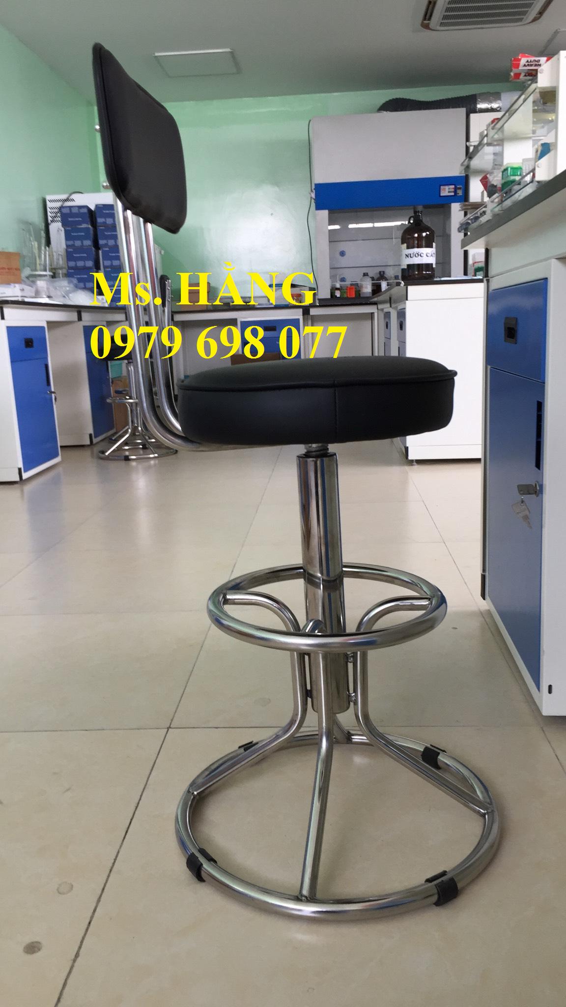 Ghế dùng cho phòng thí nghiệm bọc nêm tựa lưng