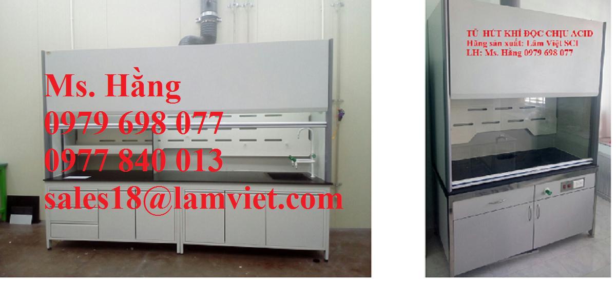 Tủ hút khí độc chịu acid dùng cho phòng thí nghiệm