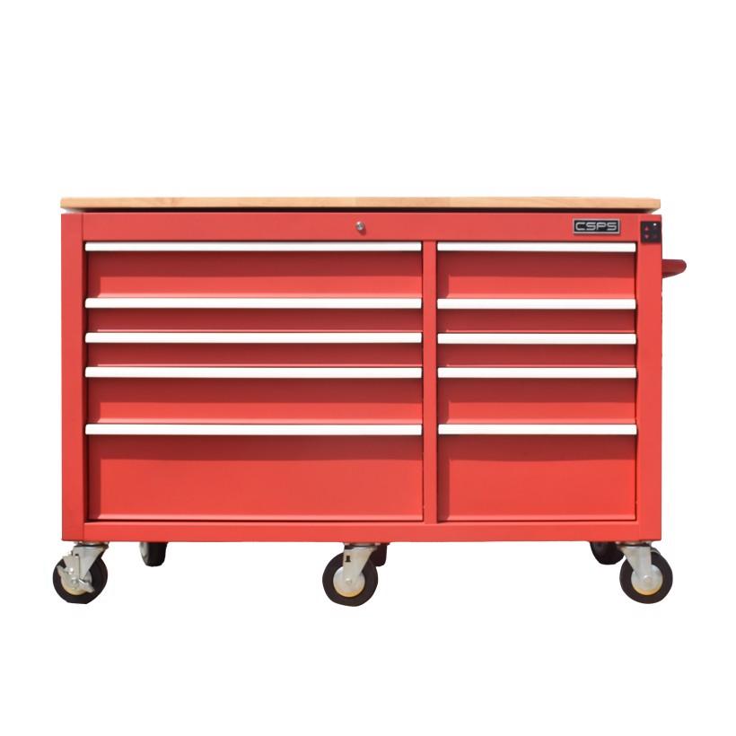 Tủ dụng cụ điện CSPS 142cm - 10 hộc kéo – Đỏ/Đen