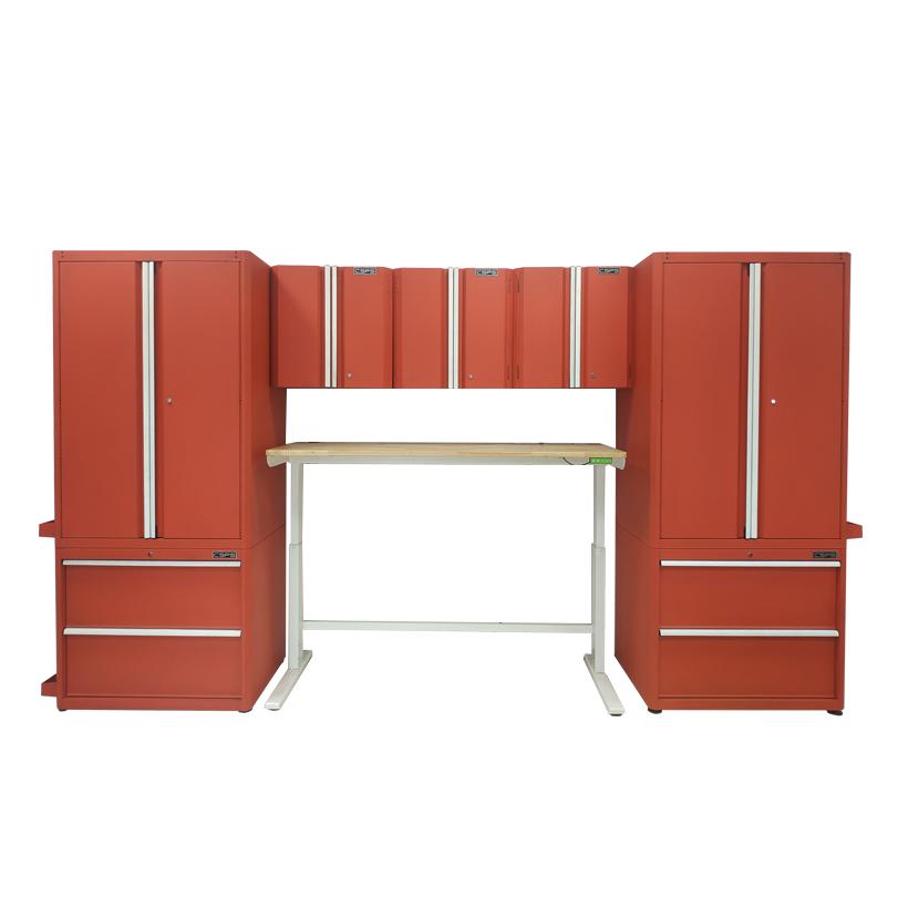 Bộ 9 tủ CSPS 366cm – Đỏ/Đen