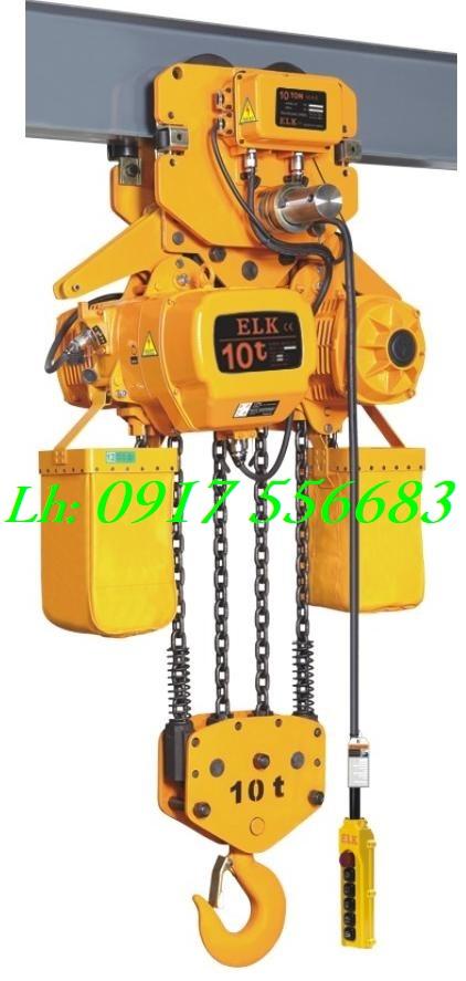 Pa lăng xích điện ELK 10 tấn có di chuyển ngang HKDM1004S