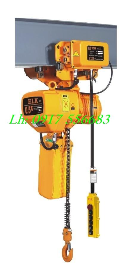 Pa lăng xích điện ELK 500kg có di chuyển ngang HKDM00501S