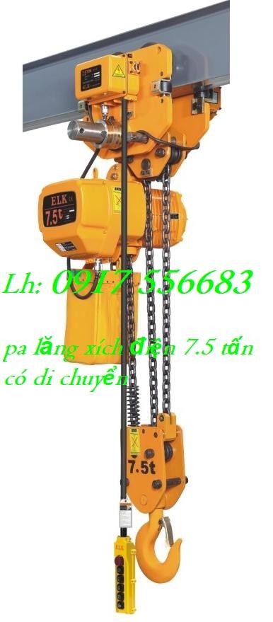 Pa lăng xích điện ELK 7.5 tấn có di chuyển ngang HKDM07503S