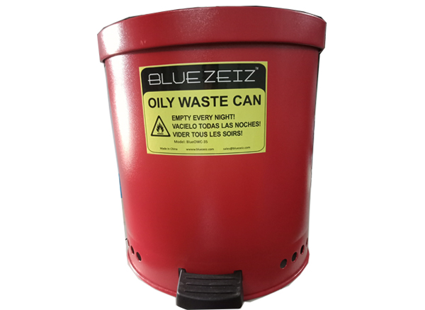 Thùng đựng rác thải dầu nhờn có nắp đậy
