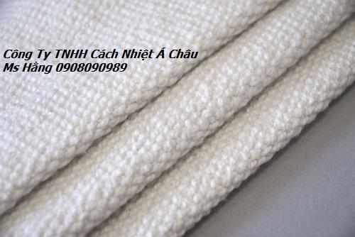 Vải ceramic chống cháy 1260 độ C, vải có sợi thép mỏng bên trong