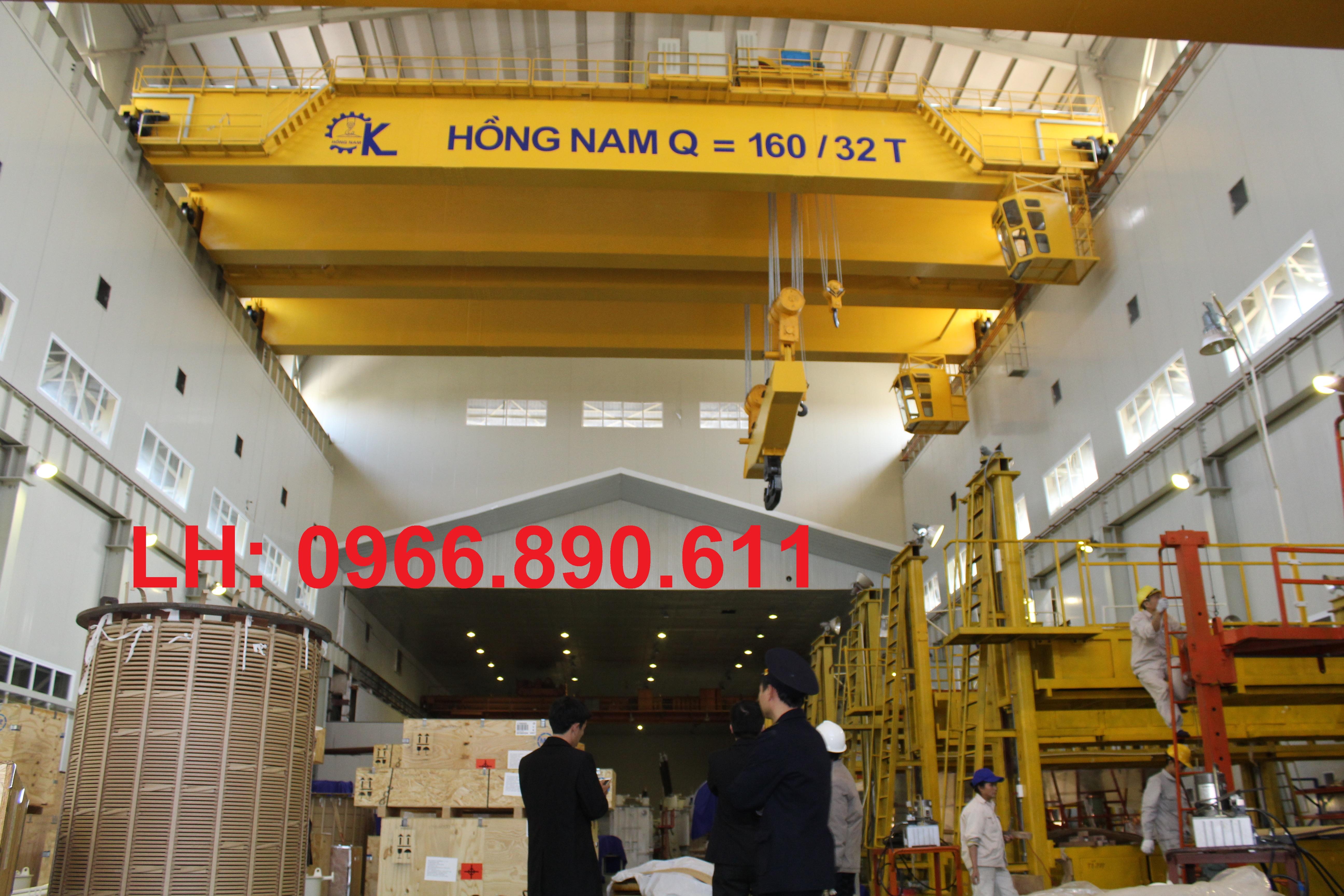 Cầu trục hai dầm 160/ 32 tấn