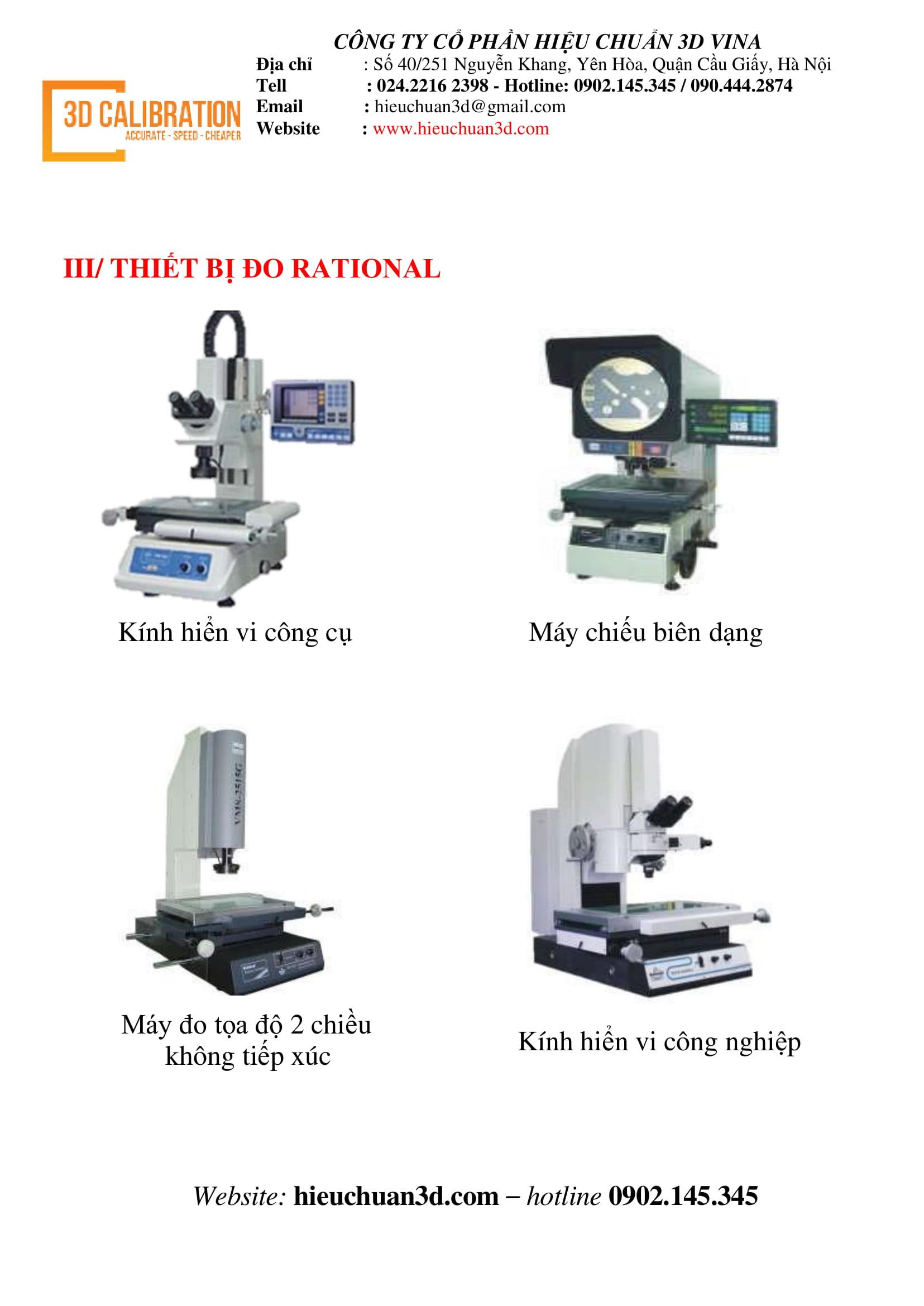 3D Vina – Trung tâm bảo hành, sửa chữa, hiệu chuẩn cho máy đo Rational