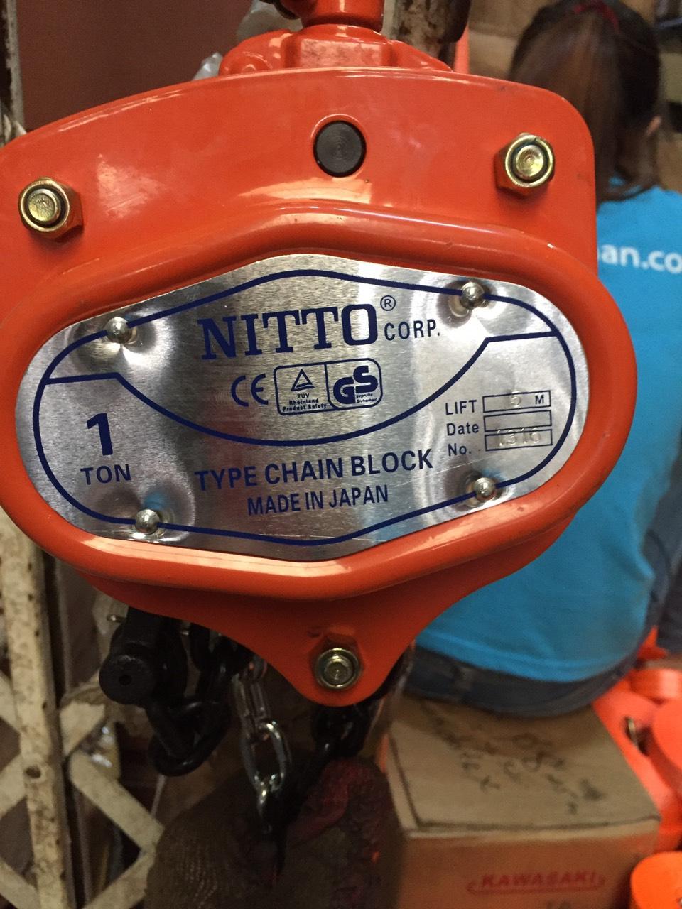 Pa lăng 1 tấn Nitto Nhật Bản