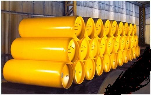 Bình thép chứa chứa khí Clo hóa lỏng