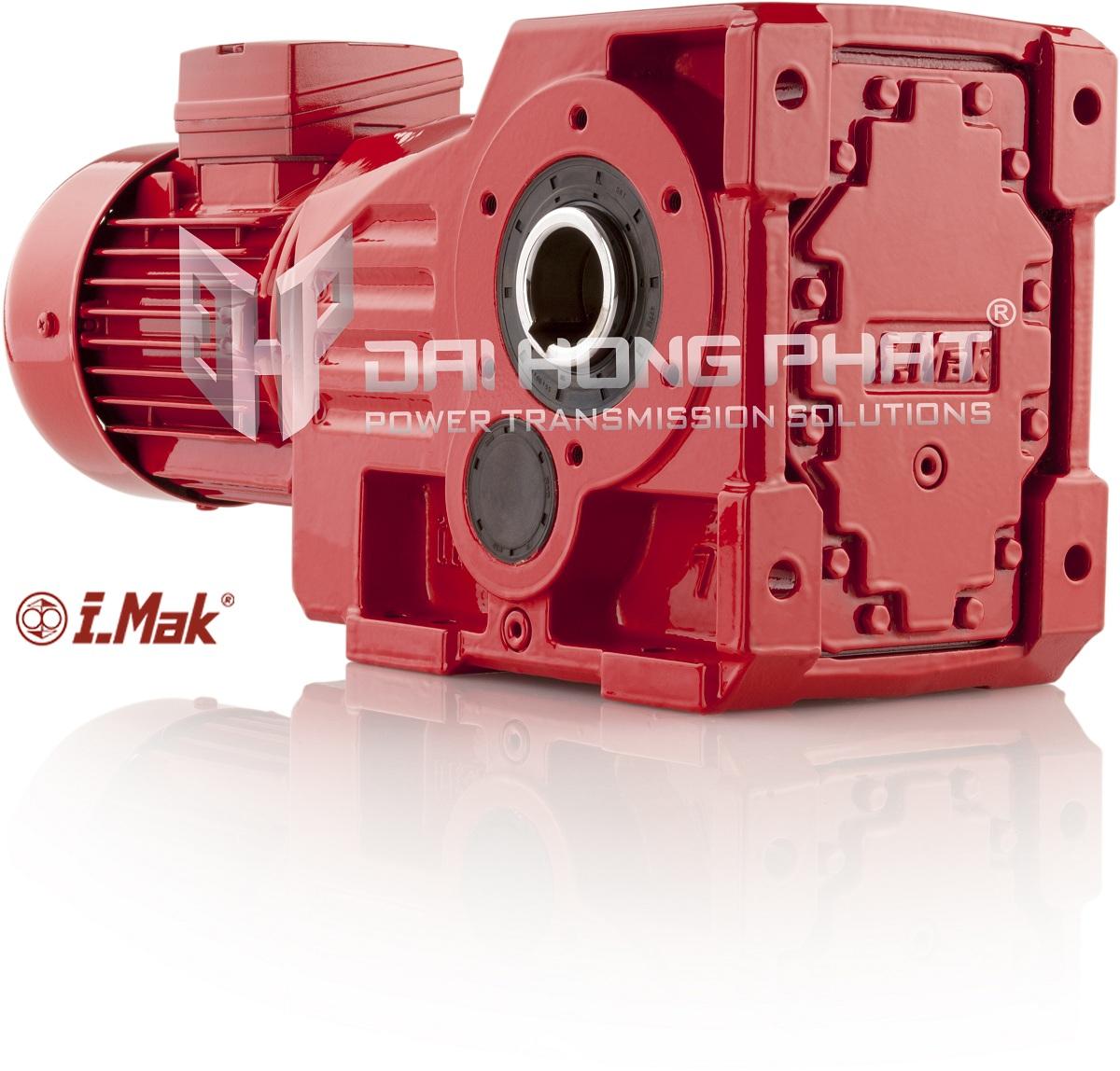 Động cơ giảm tốc trục vuông góc (bánh răng côn) IRK Series