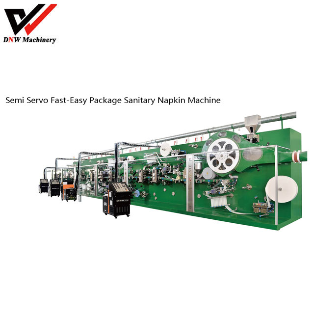 Semi Servo Fast-easy Package Sanitary Napkin Production Line