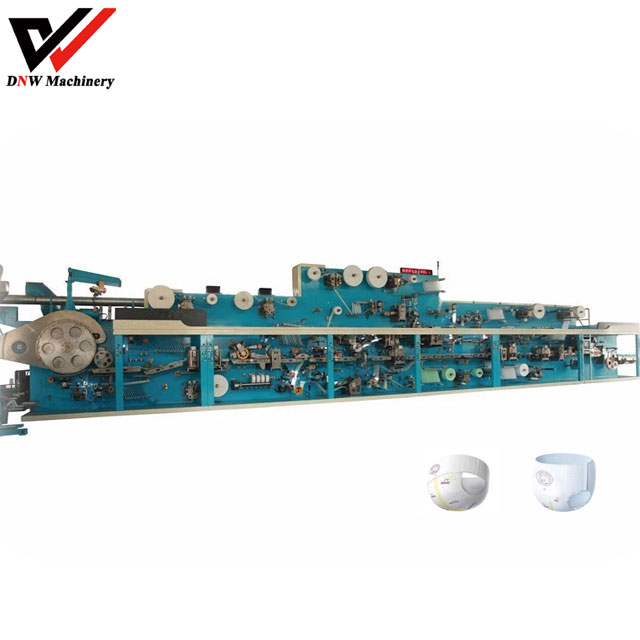 Semi Servo Pull Up Baby Diaper Manufacturing Machine
