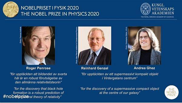 Giải Nobel Vật lý 2020 vinh danh 3 nhà khoa học nghiên cứu về hố đen
