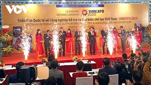 Gần 250 gian hàng tham gia Triển lãm Quốc tế về Công nghiệp hỗ trợ và Chế biến chế tạo Việt Nam- VIMEXPO 2020