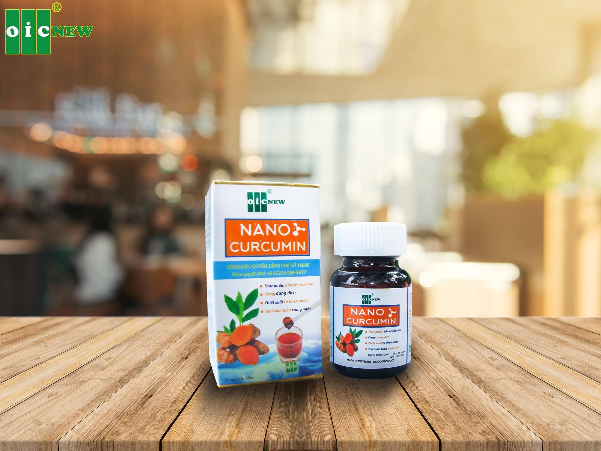 Thực phẩm bảo vệ sức khỏe dung dịch Nano Curcumin