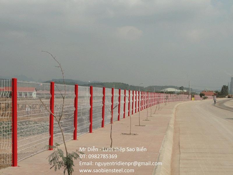 Lưới hàng rào hàn chập