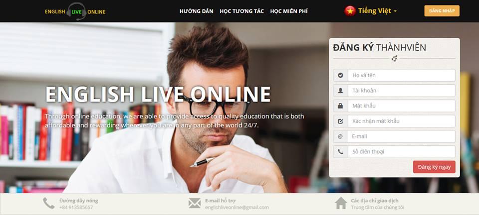Học tiếng anh trực tuyến với EnglishLiveOnline - 100% giao viên nước ngoài