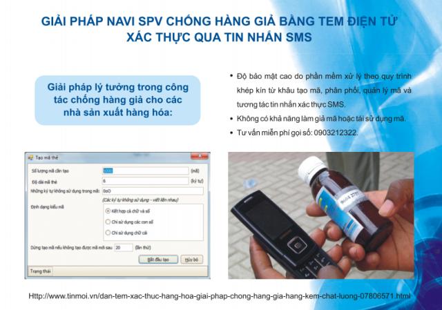 Navi SPV phần mềm xác thực sản phẩm chính hãng