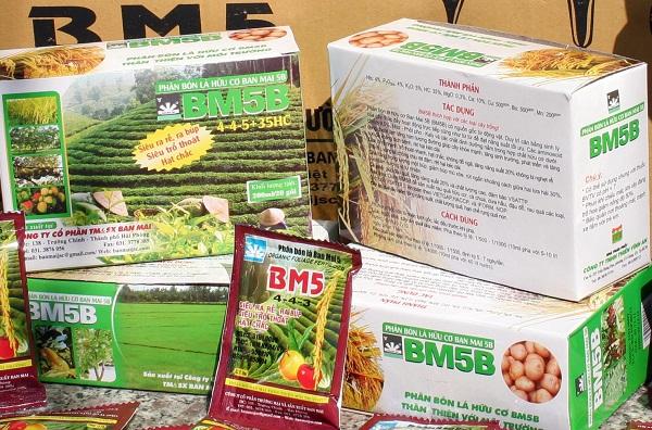 Phân bón lá hữu cơ Ban Mai 5B (BM5B)