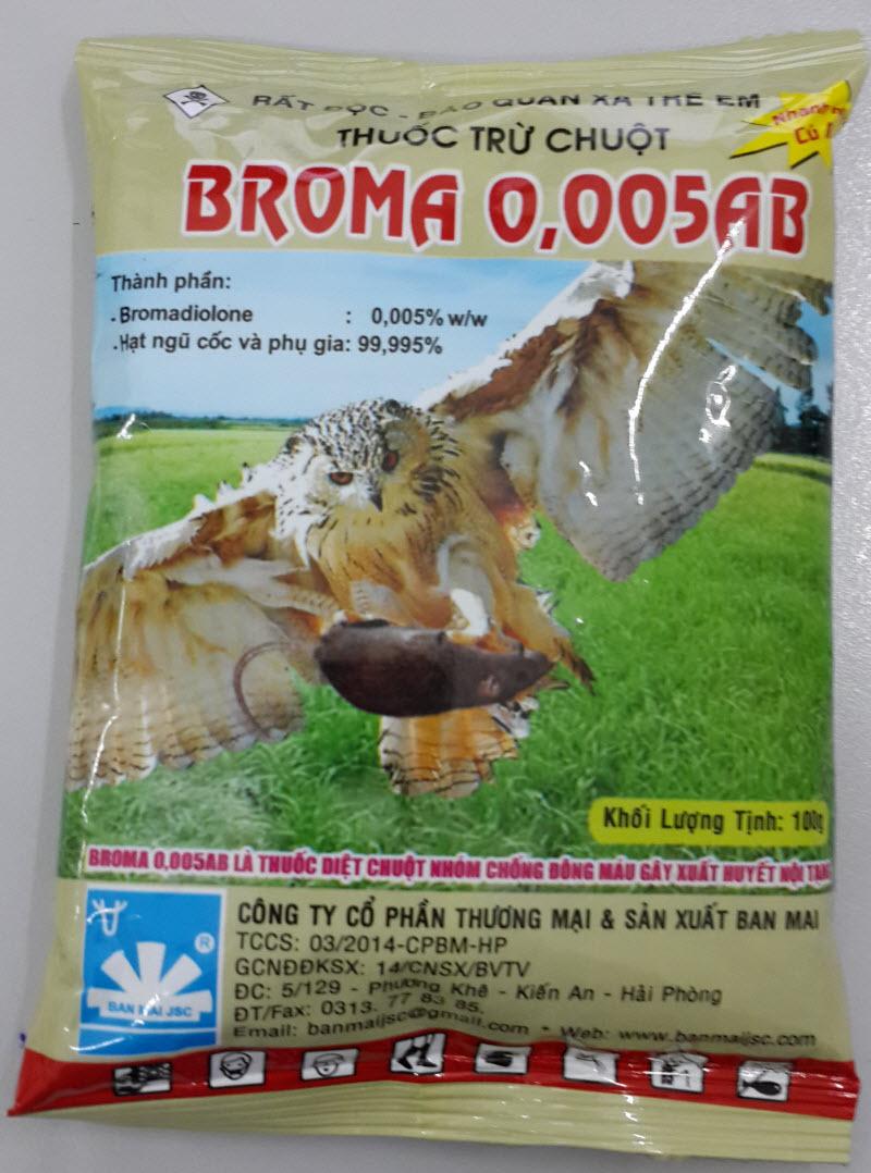 Thuốc trừ chuột Broma 0,005AB (100g)