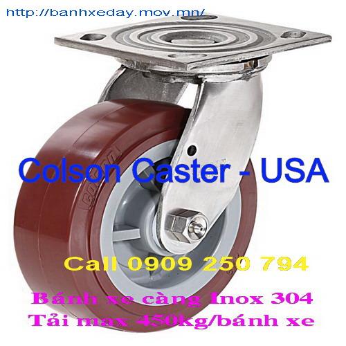 Bánh xe đẩy càng inox 304 Series 4 Conlson - Hoa Kỳ