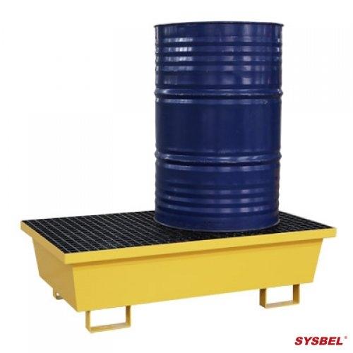 Pallet bằng thép chống tràn dầu, hóa chất cho 2 thùng phi