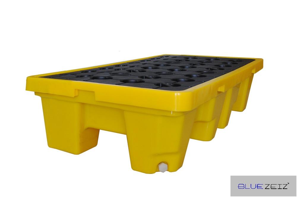 BlueSP-2D Pallet chống tràn hóa chất bằng nhựa 1300x680x300