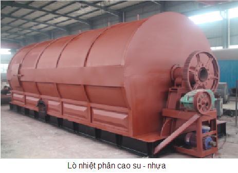 Dây chuyền lọc dầu FO từ lốp cao su và nhựa phế liệu