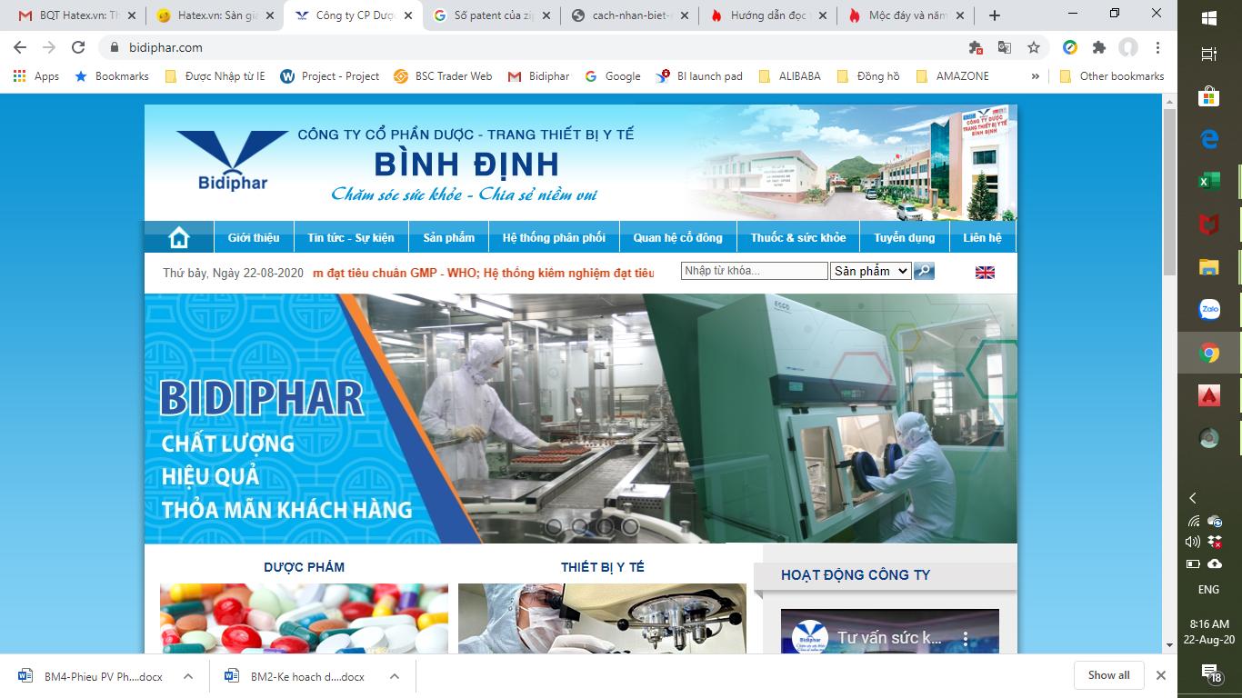 Công ty cổ phần dược trang thiết bị y tế Bình Định