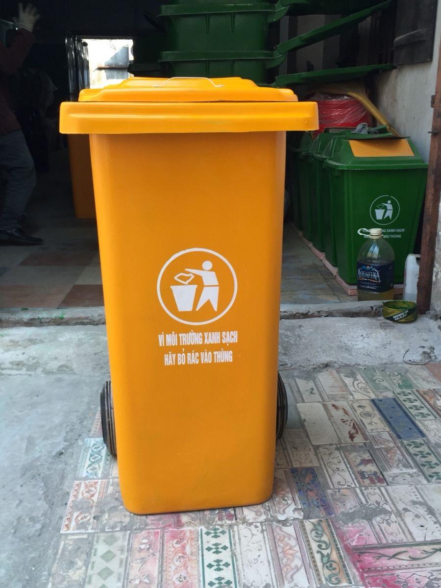 Cung cấp thùng rác compoite 120 lít - thùng rác công cộng