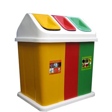 Sản xuất thùng rác 3 ngăn theo yêu cầu