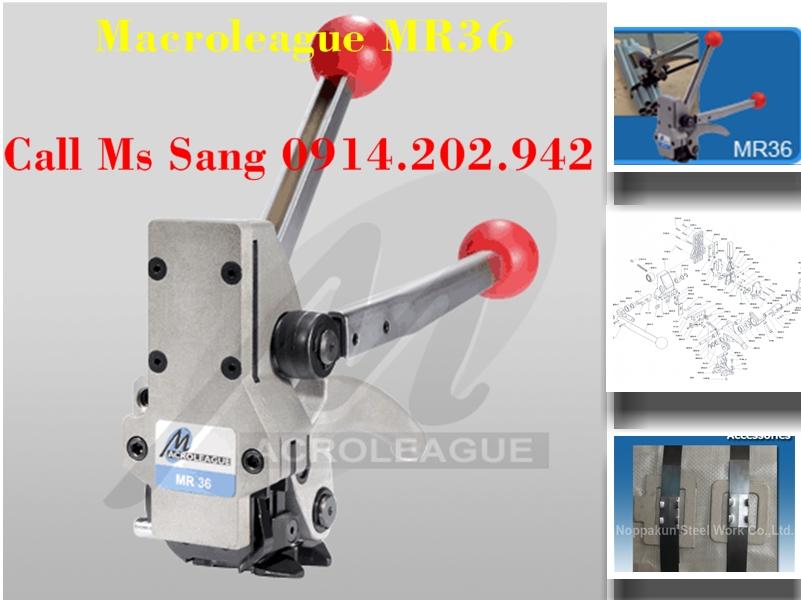 Kềm siết đai thép 3 trong 1 dùng kèm bọ sắt Macroleague MR36