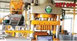 Dây chuyền sản xuất gạch không nung công nghệ ép tĩnh DET-800