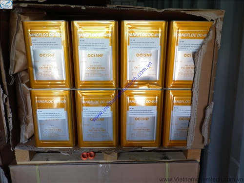 Vichemfloc DC400 - Dung dịch anion polime khử màu nước thải dệt nhuộm