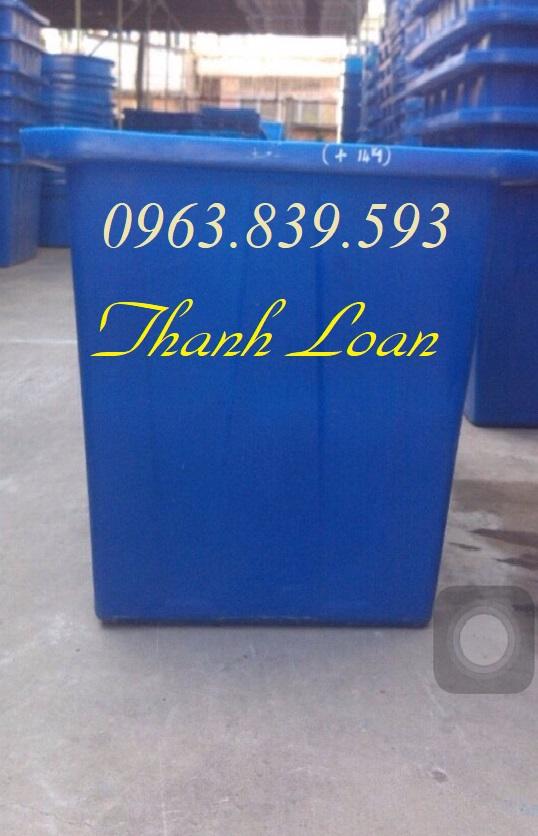 Thùng nhựa đặc 750L muôi cá