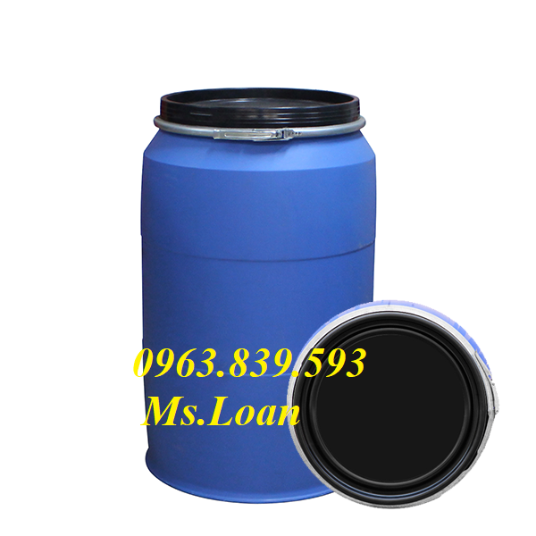 Phuy nhựa 220L đựng hóa chất
