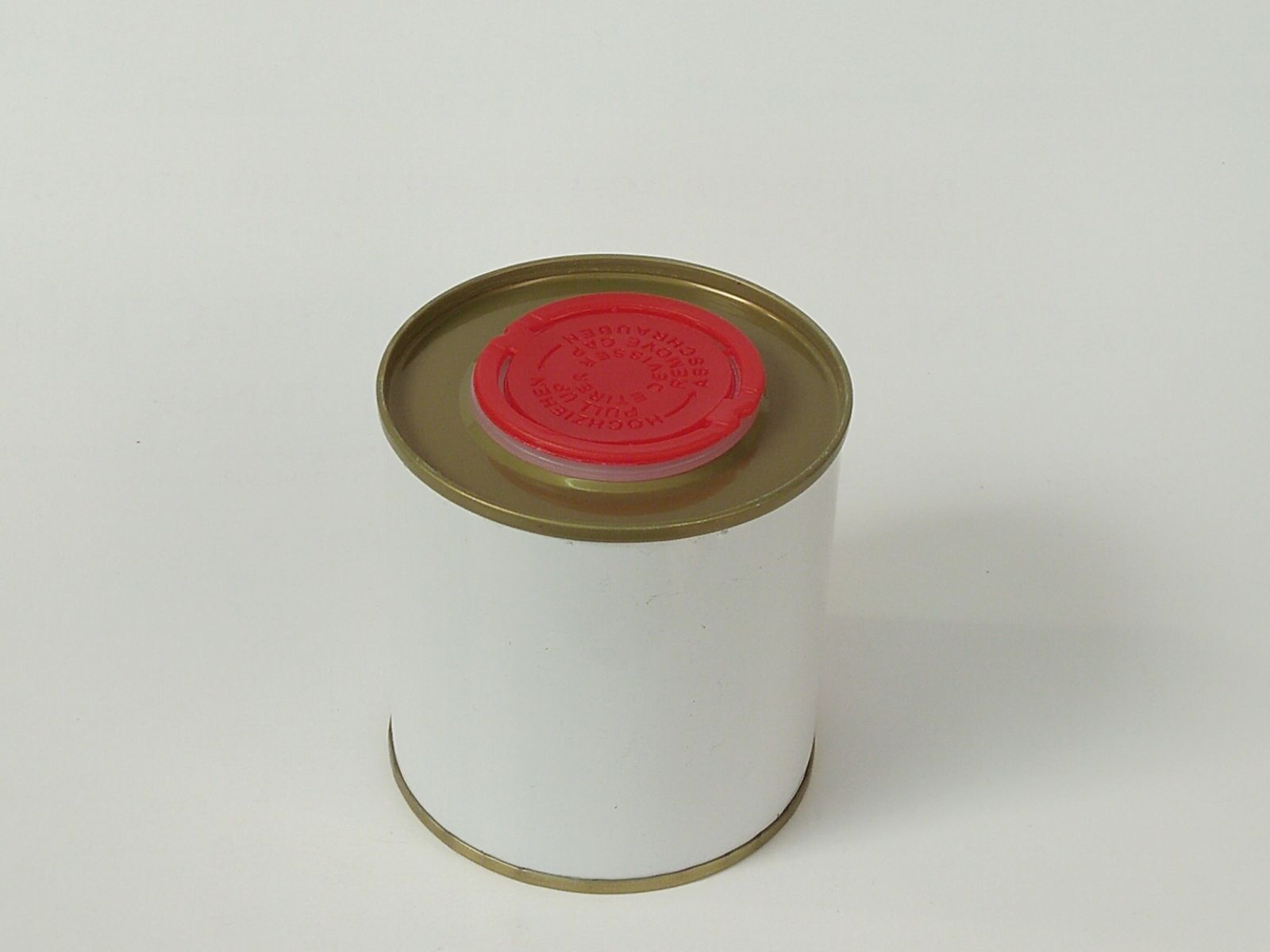 Lon thiếc 250ml nắp nhựa đỏ nghành dầu bóng