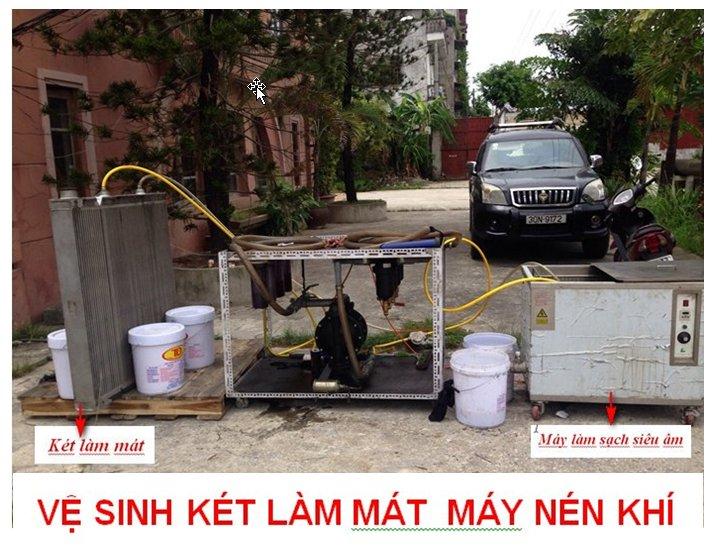 Dịch vụ vệ sinh giàn làm mát máy nén khí