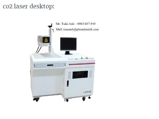 Máy khắc laser trên kim loại, mica, gỗ, inox... - Fiber marking machine
