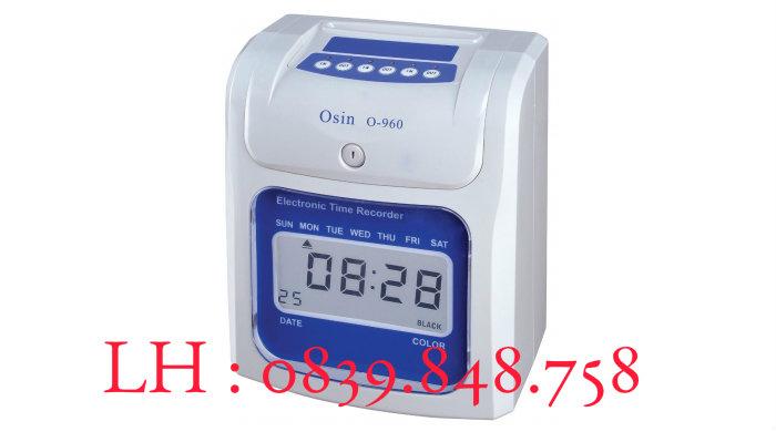 Máy chấm công thẻ giấy Osin O960 giá rẻ