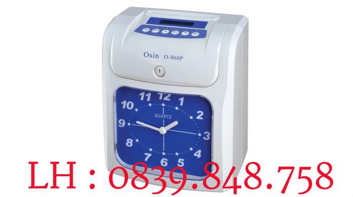 Máy chấm công thẻ giấy OSIN O960P, tặng 100 thẻ chấm công khi mua máy
