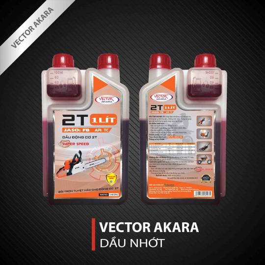 Dầu máy 2 thì Vector AKARA 2T, API: TC, JASO: FB